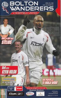 05/01/2008 - Bolton Wanderers v. Sheffield United - Front