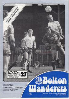 07/05/1984 - Bolton Wanderers v. Sheffield United - Front
